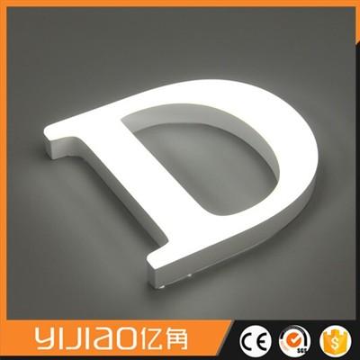 transparent acrylic letter